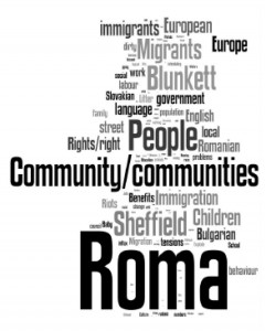 Figure 2: Word usage in Roma news event 2013/14