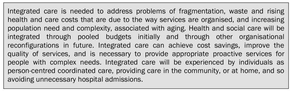 Integrated care - the synthesised discourse