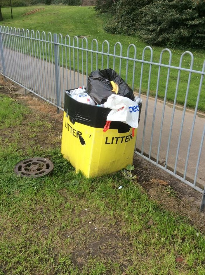 Litter bin park-users created